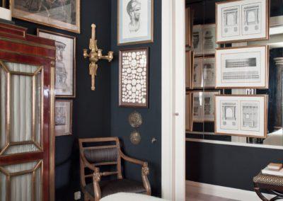 decoración, silla, armario ruso, grabados