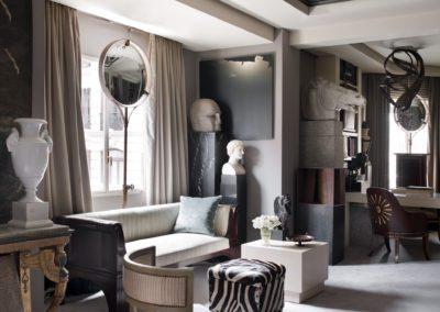 salón, consola imperio, espejos, esculturas, arquitectura interior