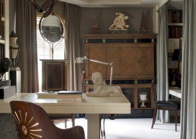 despacho, silla rusa, escultura moderna, mueble 1930`s