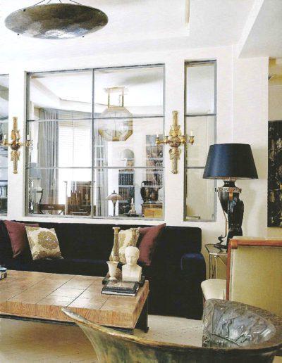 salón, decoración, sofisticación, eclecticismo
