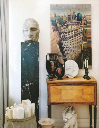 decoración eclectica, mueble 1930`s, escultura