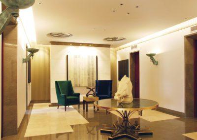 hall, arquitectura interior, aplique, suelo mármol