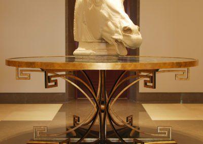 hall, velador, diseño Ramón Garcia Jurado, escultura