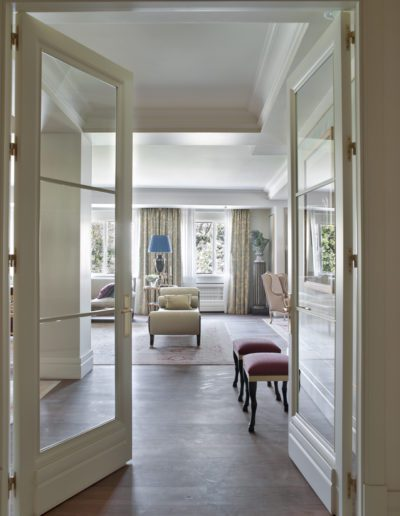 salón, puertas, decoración, lujo