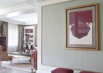 salón, cuadro, decoración