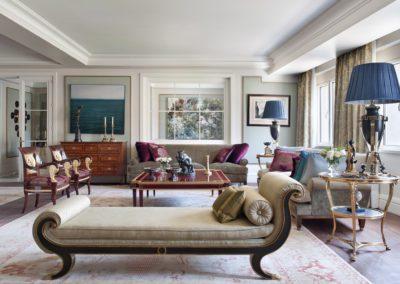 salón, decoración, chaiselounge, lujo