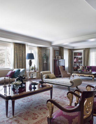 salón, decoración, mesa de centro