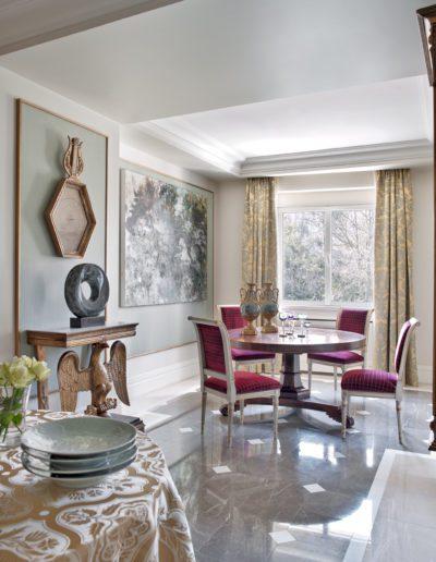 comedor, lujo, clásico, decoración