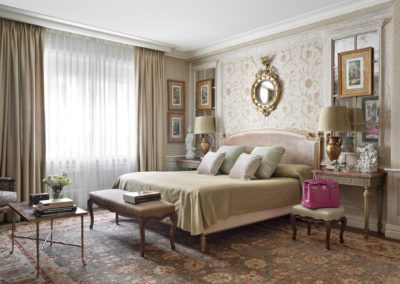 dormitorio, clásico, lujo, diseño interior, decoración