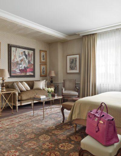 dormitorio, lujo, sofisticación, decoración, sofá