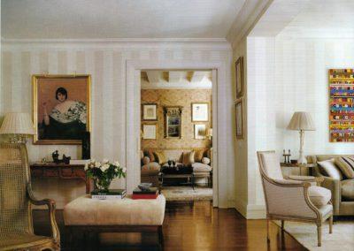salón, decoración, lujo, cuadro