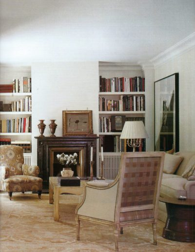 salón, decoración, chimenea, lujo, interiorismo