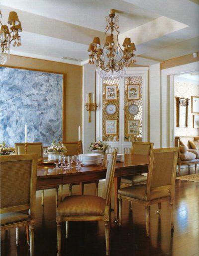 comedor, decoración, lujo, Luis XVI, sofisticación