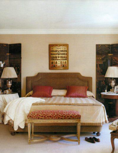dormitorio, decoración, lujo, clásico, biombo