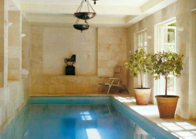 piscina cubierta, arquitectura interior