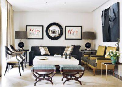 salón, decoración, sillas elegantes, cuadro