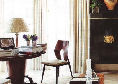 salón, decoración, mesa, armario 1930`s
