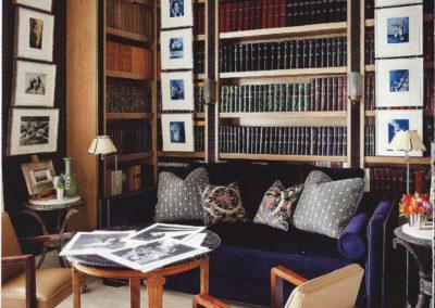 librería, decoración, mesa 1930`s