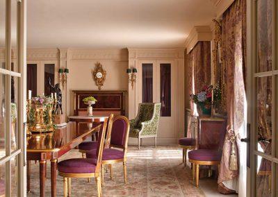 comedor, clásico, decoración, estilo Luis XVI