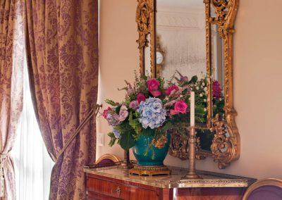 decoración, estilo, espejo regency
