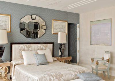 dormitorio, decoración estilo 1930`s, espejo