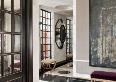 hall, suelos mármol, lujo, contemporáneo, carpintería