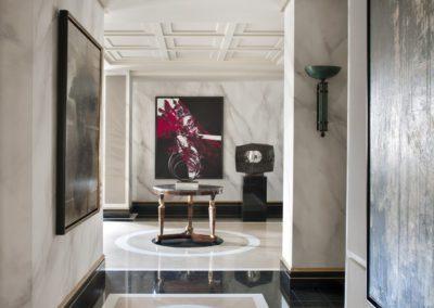 hall, suelos mármol, lujo, contemporáneo, Luis Feito