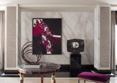 salón, mesa imperio, lujo, Luis Feito