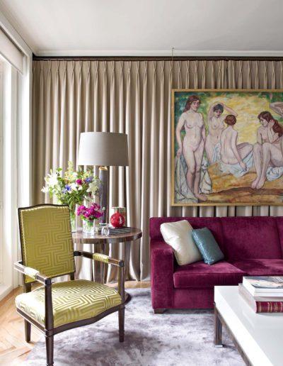 decoración, silla 1930`s, telas, lujo