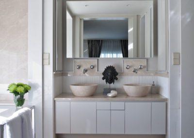 baño, mármol, lujo, lavabos