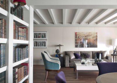 librería, salón, decoración