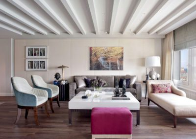 salón, decoración, sofá, butacas, chaiselounge