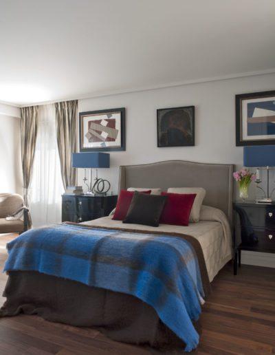 dormitorio, decoración, cama, cabecero
