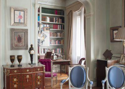 decoración clásica, salón, despacho