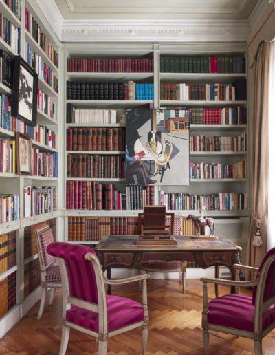 librería, despacho, decoración clásica
