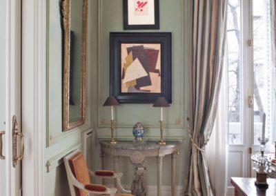 decoración clásica, pintura moderna, estilo Luis XVI