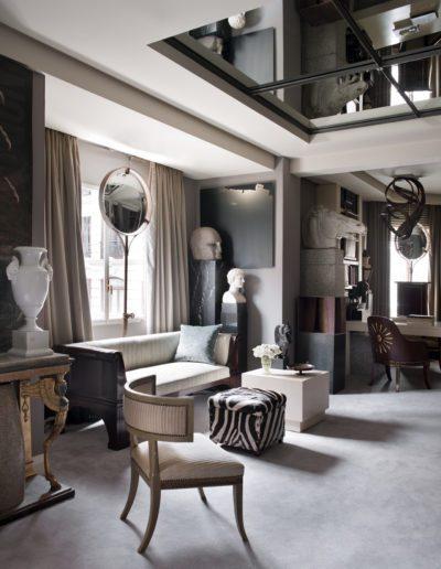 consola imperio, espejos, esculturas, arquitectura