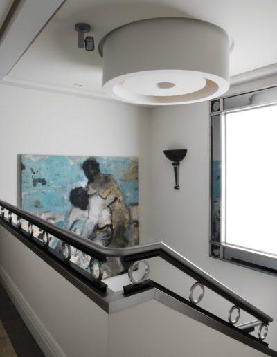 escalera, arquitectura interior, barandilla, apliques