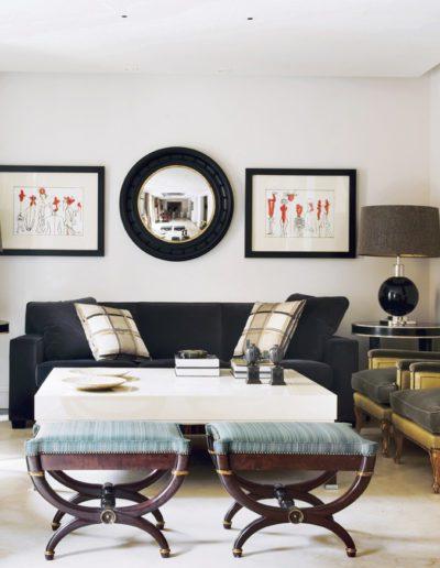 decoración, sillas elegantes, cuadro Farreras