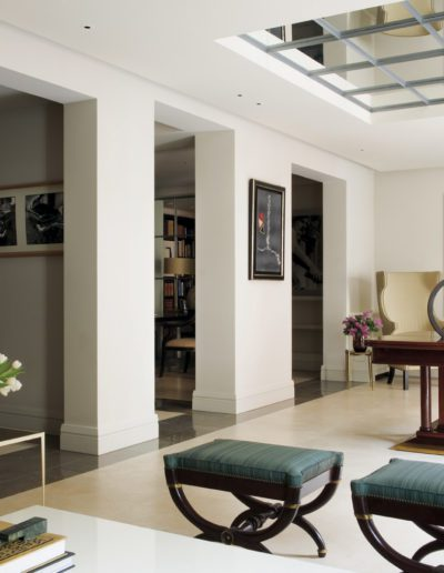 salón, arquitectura interior, cuadro Xavier Grau