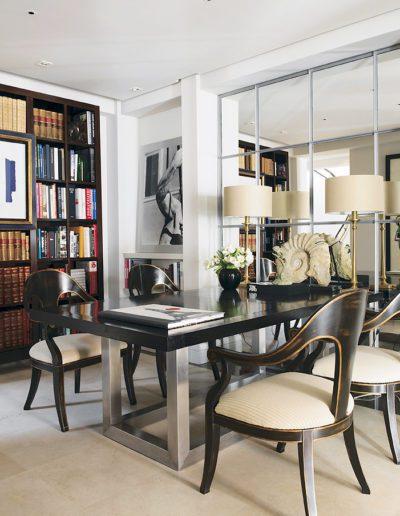 librería, comedor, espejo, arquitectura interior