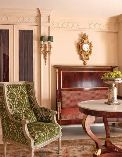 decoración, lujo, neoclásico, estilo Luis XVI
