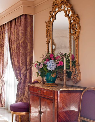 decoración, estilo Luis XVI, espejo regency