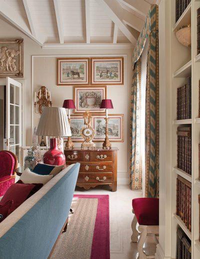 librería, grabados,decoración, casa campo
