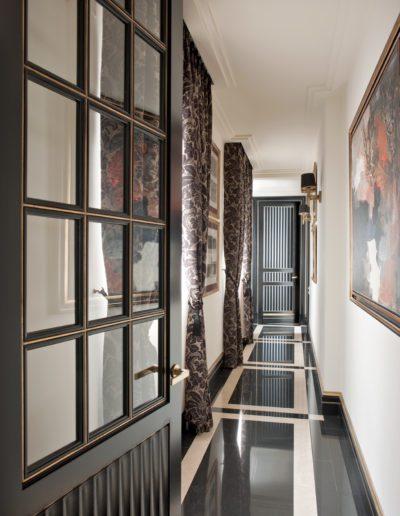 pasillo, carpintería, suelo, mármol, decoración