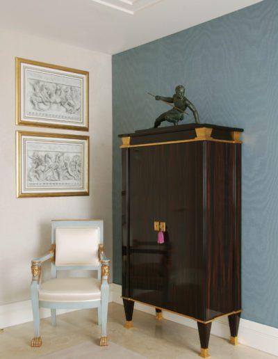 decoración, dibujos, lapiz, armario, Quinet