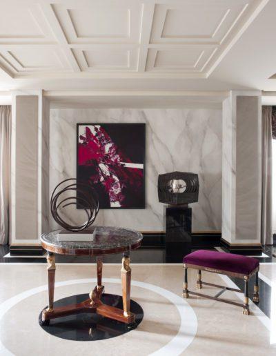 salón, mesa imperio, lujo, decoracion