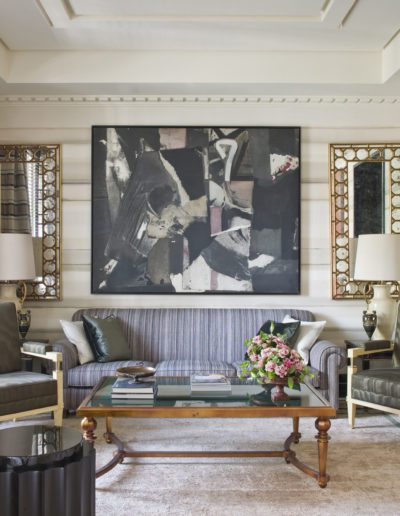 salón, living room, sophisticated, interior design, decoración, pintura Darío Villalba