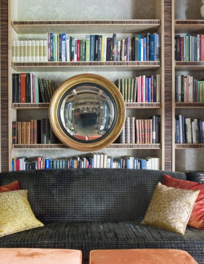 Biblioteca, Library, sophisticated, interior design, decoración, mirror, espejo