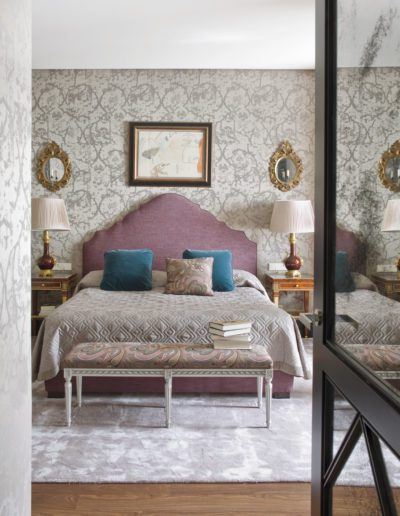 Dormitorio, Bedroom, bed, inetrior design, luxury, pintura Mompó